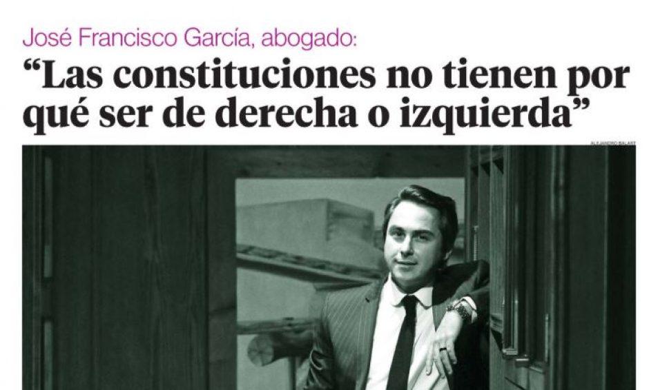 José Francisco García, abogado: «Las Constituciones no tienen por qué ser de derecha o izquierda»