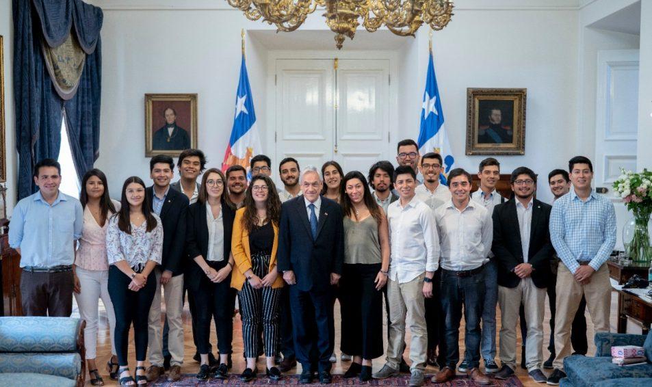 Juventudes de Chile Vamos se reunieron con Presidente Piñera