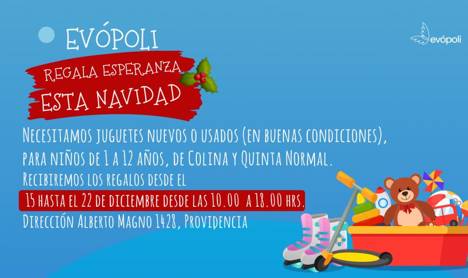SE PARTE DE LA CAMPAÑA DE NAVIDAD DE EVÓPOLI Y APOYA ESTA LINDA CAUSA